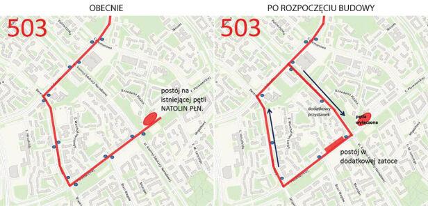 Zmiana trasy linii 503 ZTM