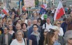 Manifestacja przeciwko reformie sądownictwa