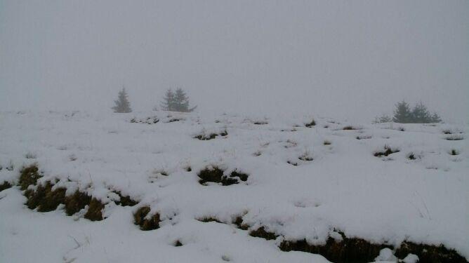 Zmiana pogody w 24 godziny. Zimowy krajobraz w Rumunii