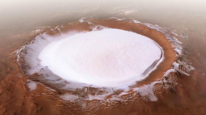 Krater Korolowa (ESA/DLR/FU Berlin, CC BY-SA 3.0 IGO)