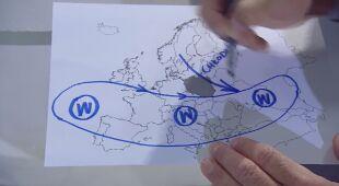 Tomasz Wasilewski rysuje pogodę w Europie