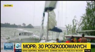 Biały szkwał na Mazurach (TVN24)