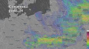 Opady deszczu w kolejnych dniach (Ventusky.com)   wideo bez dźwięku